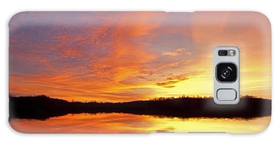 Beautiful Galaxy S8 Case featuring the photograph Dawn Jackson Hole Lake by Dean Pennala