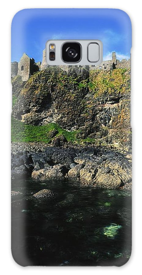 Ancient Civilization Galaxy S8 Case featuring the photograph Dunluce Castle, Co Antrim, Ireland by The Irish Image Collection