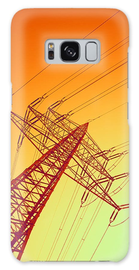Power Line Galaxy S8 Case featuring the photograph Electricity Power Lines by Pasieka
