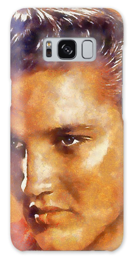 Elvis Galaxy S8 Case featuring the digital art Elvis Presley by Galeria Trompiz