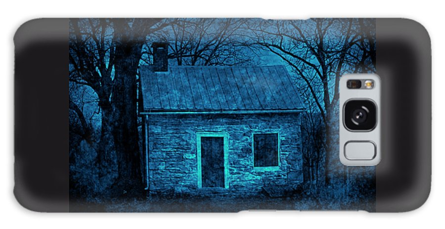 Limestone Galaxy S8 Case featuring the photograph Enchanted Moonlight Cottage by John Stephens