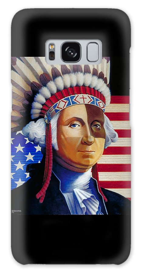 George Washington Galaxy S8 Case featuring the painting Father Of The Nation by Ross Edwards