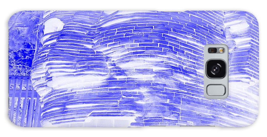 Architecture Galaxy S8 Case featuring the photograph Gentle Giant In Negative Blue by Rob Hans