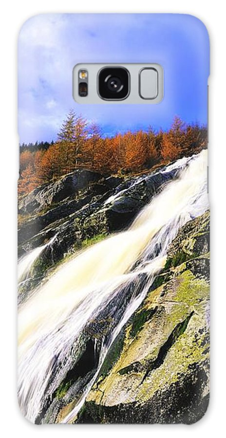 Cliff Galaxy S8 Case featuring the photograph Glenmacnass Waterfall, Co Wicklow by The Irish Image Collection