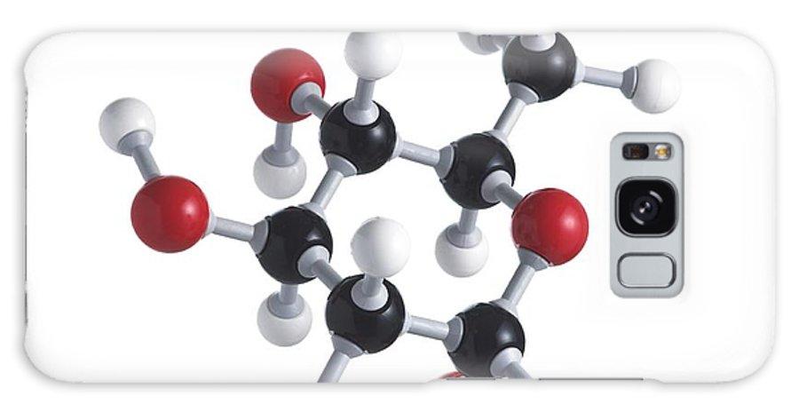 Artwork Galaxy S8 Case featuring the photograph Glucose Sugar Molecule by