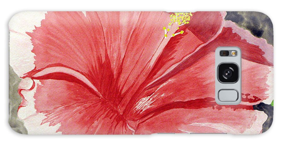 Hibiscus Galaxy S8 Case featuring the painting Happy Hibiscus by Debi Singer