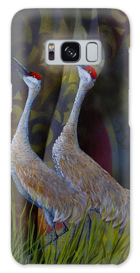 Sandhill Galaxy S8 Case featuring the painting Harmony by Dee Carpenter