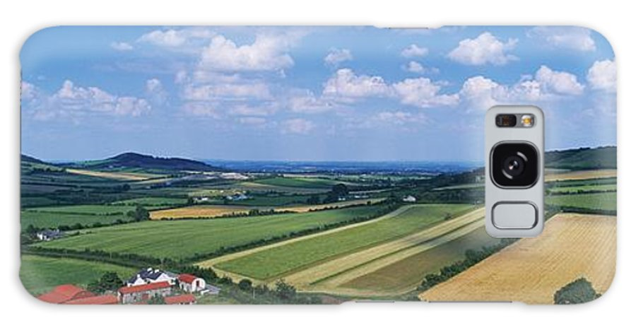 Agricultural Industry Galaxy S8 Case featuring the photograph High Angle View Of Fields, Stradbally by The Irish Image Collection