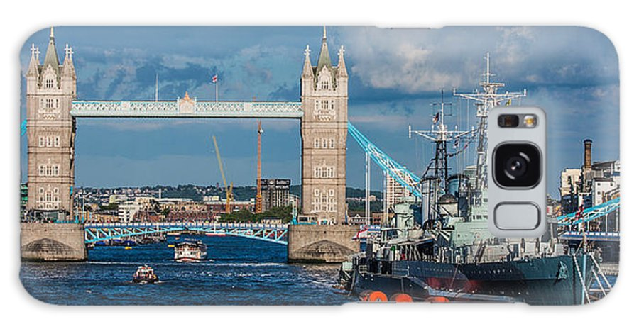 Dawn Oconnor Dawnoconnorphotos@gmail.com Galaxy S8 Case featuring the photograph Hms Belfast And Tower Bridge by Dawn OConnor