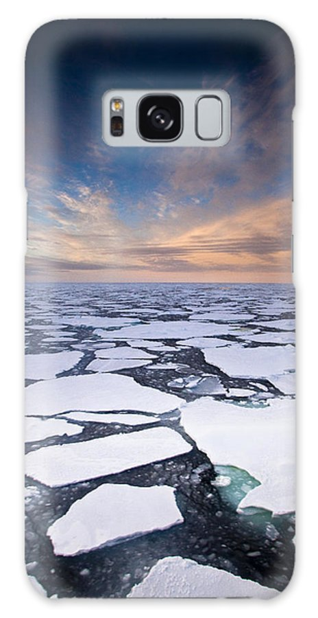 00427975 Galaxy S8 Case featuring the photograph Ice Floes At Sunset Near Mertz Glacier by Colin Monteath