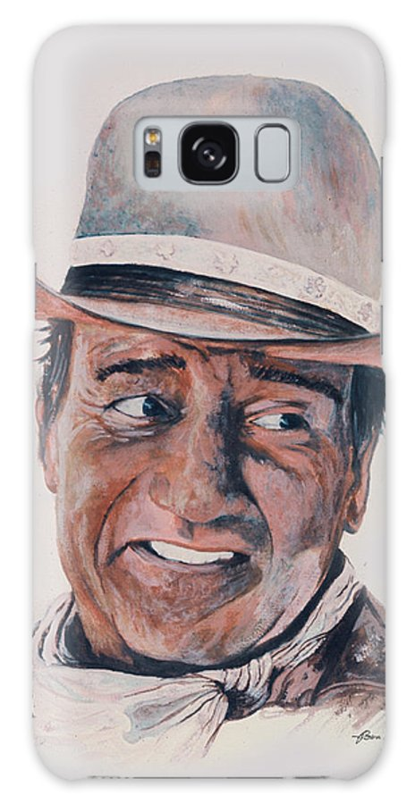 Portrait Galaxy Case featuring the painting John Wayne by Ben Kiger