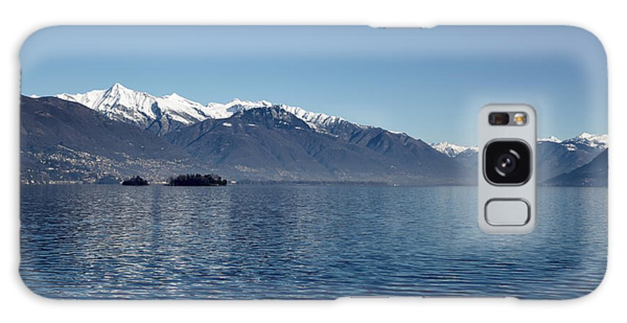 Lake Galaxy S8 Case featuring the photograph Lake With Snow-capped Mountain by Mats Silvan