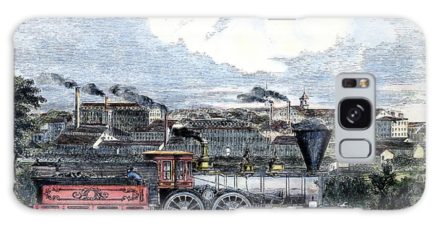 1855 Galaxy S8 Case featuring the photograph Locomotive Factory, C1855 by Granger