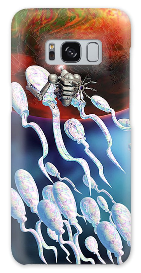 Technology Galaxy S8 Case featuring the photograph Medical Nanorobot On Sperm Cell by Victor Habbick Visions
