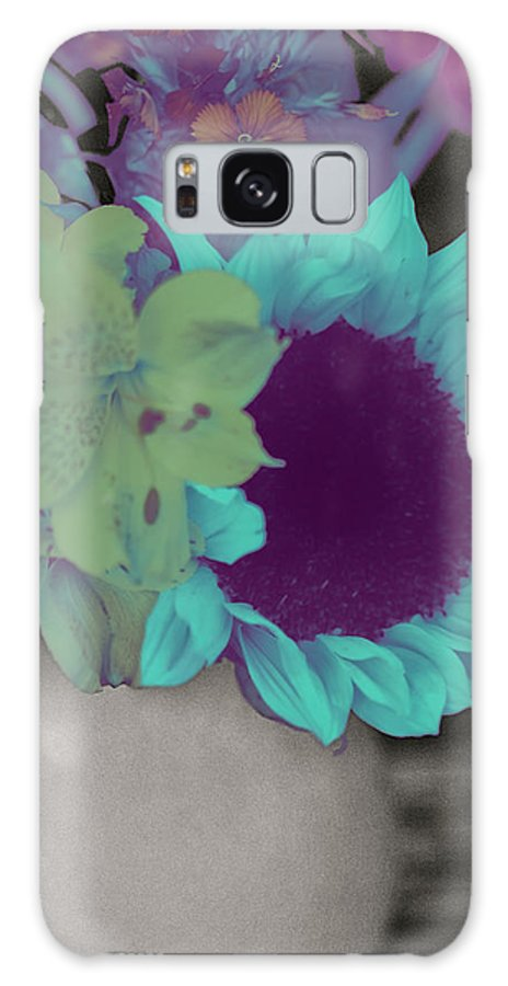 Digitally Hand-colored Galaxy S8 Case featuring the photograph Moonflower by Linda Dunn