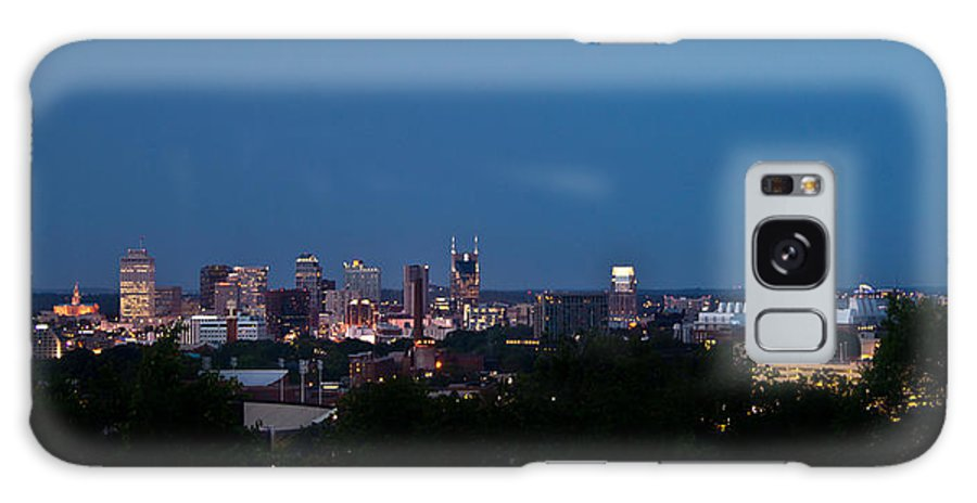 Nashville Galaxy S8 Case featuring the photograph Nashville By Night 1 by Douglas Barnett