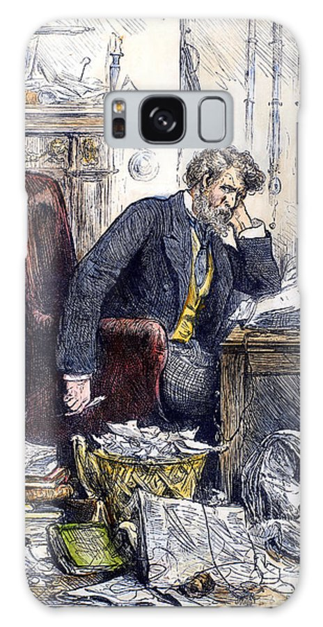 1880 Galaxy S8 Case featuring the photograph Newspaper Editor, 1880 by Granger