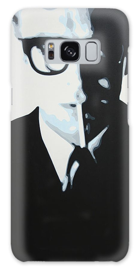 Michael Caine Galaxy S8 Case featuring the painting Palmer by Luis Ludzska