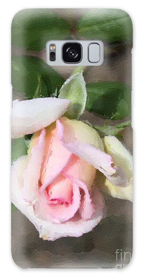 Pink Rose Galaxy S8 Case featuring the painting Pink Rose by Brenda Deem