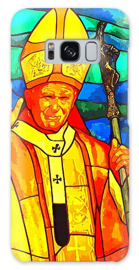 Pope Galaxy S8 Case featuring the photograph Pope John Paul 11 by Tammy Bullard