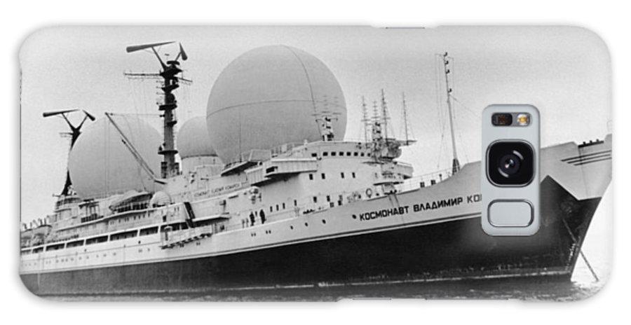 Cosmonaut Vladimir Komarov Galaxy S8 Case featuring the photograph Radio Antennae On A Soviet Ship by Ria Novosti