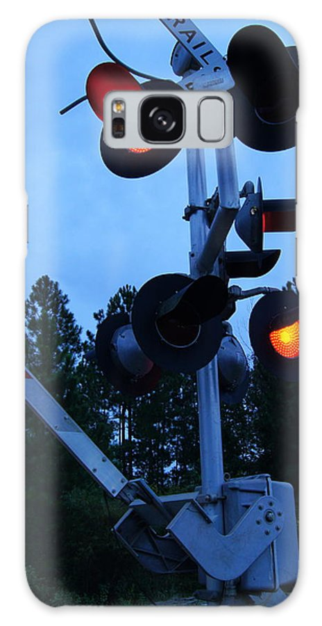 Railroad Galaxy S8 Case featuring the photograph Railroad Crossing by Paul Wilford