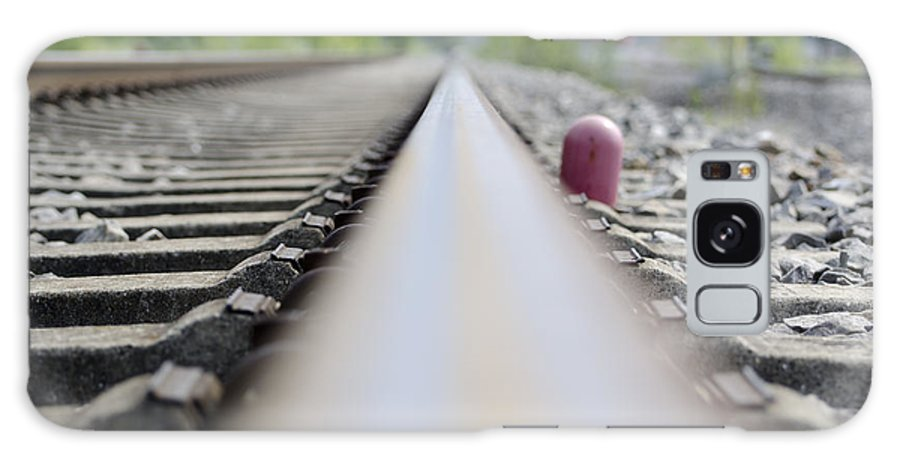 Railroad Tracks Galaxy S8 Case featuring the photograph Railroad Tracks by Mats Silvan