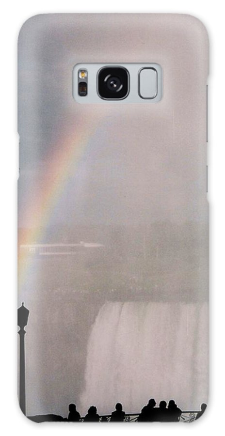 Waterfall Galaxy S8 Case featuring the photograph Rainbow Falls by Pharris Art