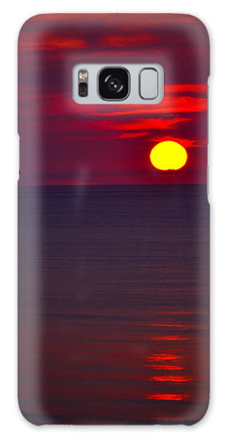 Landscape Galaxy S8 Case featuring the photograph Red Sunset by Debbie Karnes