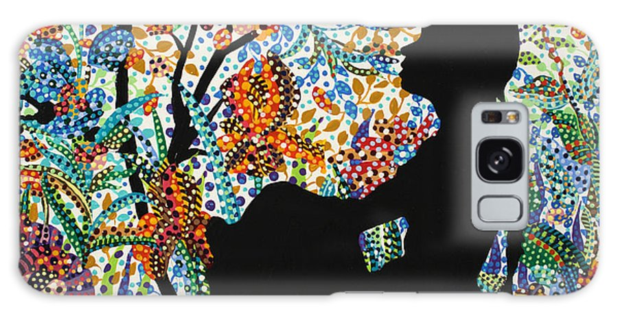 Female Galaxy S8 Case featuring the painting Removed by Erika Pochybova