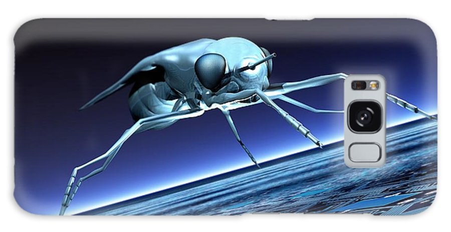 Illustration Galaxy S8 Case featuring the photograph Robotic Fly, Artwork by Victor Habbick Visions