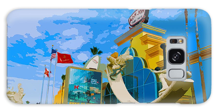 Ron Galaxy S8 Case featuring the painting Ron Jon Surf Shop In Cocoa Beach by Allan Hughes