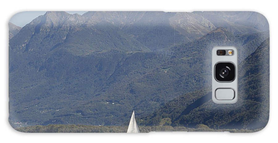 Sailing Boat Galaxy S8 Case featuring the photograph Sailing Boat And Mountain by Mats Silvan