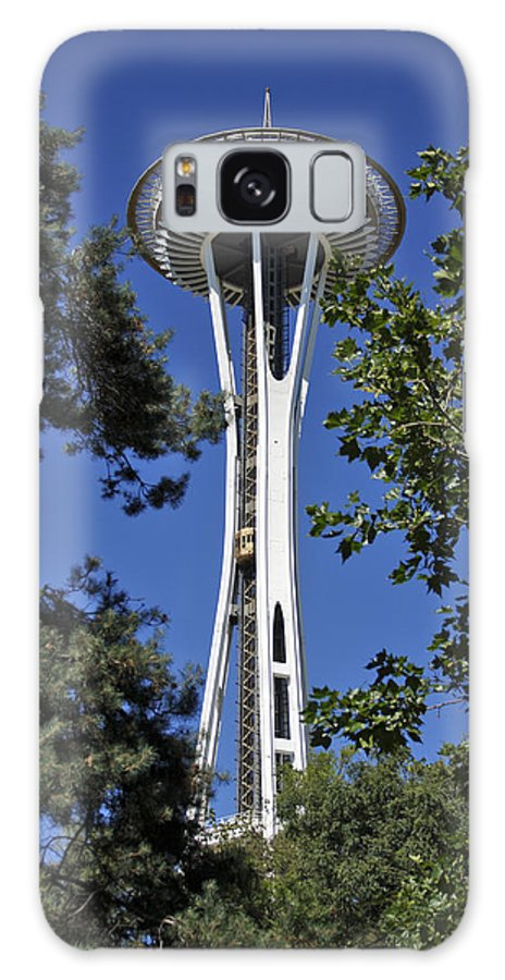 3scape Photos Galaxy S8 Case featuring the photograph Seattle Space Needle by Adam Romanowicz