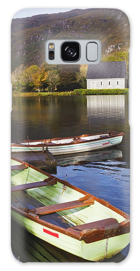 Building Galaxy S8 Case featuring the photograph St. Finbarres Oratory And Rowing Boats by Ken Welsh