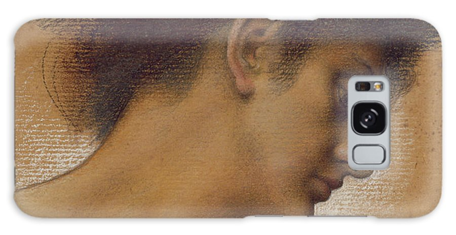 Female; Profile; Drawing Galaxy S8 Case featuring the pastel Study Of A Head by Evelyn De Morgan