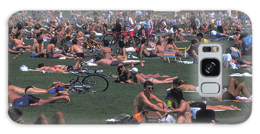 Swimsuits Galaxy S8 Case featuring the photograph Summer In Central Park by Carl Purcell