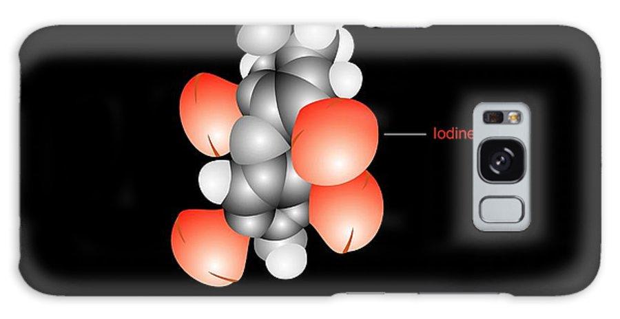 Thyroxine Galaxy S8 Case featuring the photograph Thyroxine Hormone Molecule by Francis Leroy, Biocosmos