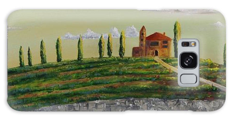 Tuscany Galaxy S8 Case featuring the painting Tuscan Guest House by Paintings by Parish