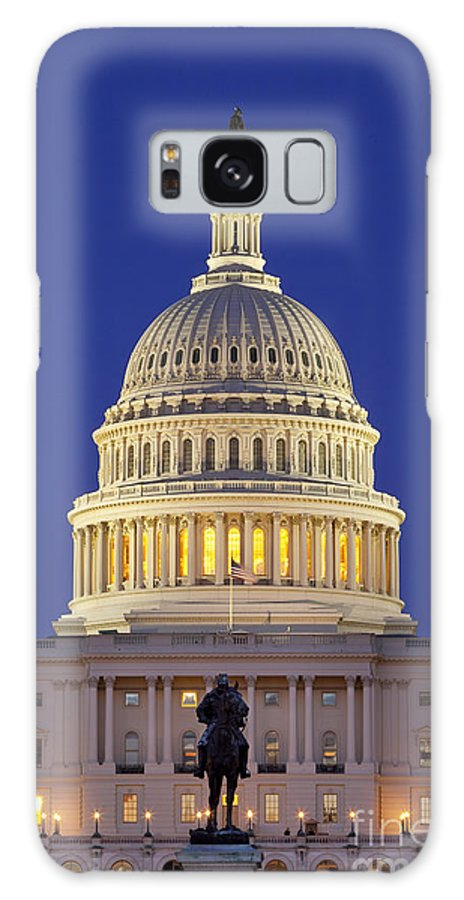 Capital Galaxy Case featuring the photograph Twilight Over Us Capitol 1 by Brian Jannsen