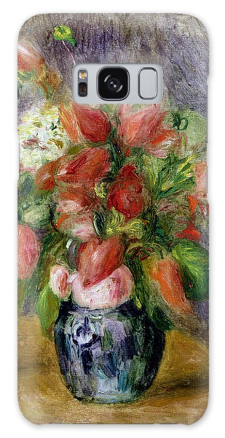 Vase Galaxy S8 Case featuring the painting Vase Of Flowers by Pierre Auguste Renoir