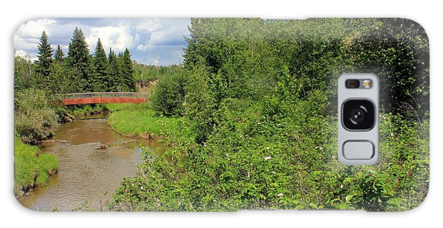 Trees Galaxy S8 Case featuring the photograph Wild Roses On Whitemud Creek by Jim Sauchyn