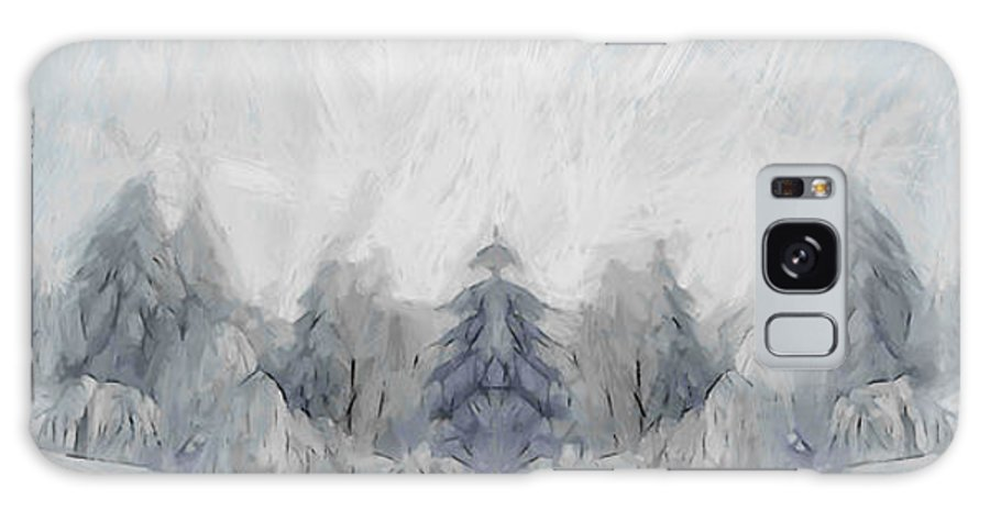 Painting Winter Snow Cold Ice Forest Wood Tree Trees Landscape Nature Galaxy S8 Case featuring the painting Wintertime by Steve K