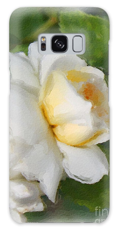 Yellow Rose Galaxy S8 Case featuring the painting Yellow Rose by Brenda Deem