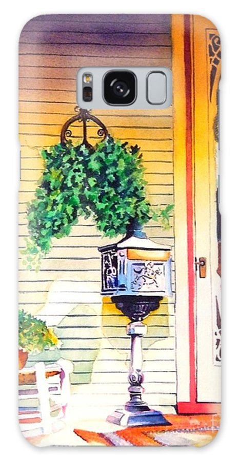 Historic Home Galaxy S8 Case featuring the painting Youve Got Mail by Greg and Linda Halom