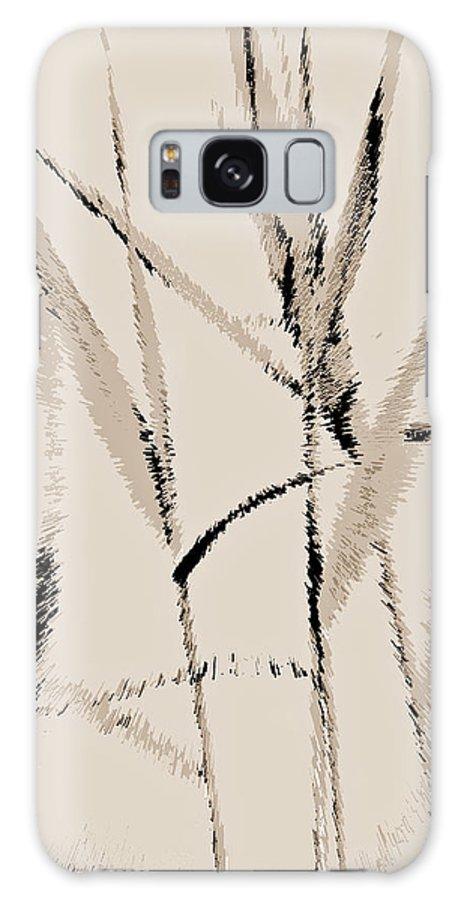 Art Galaxy S8 Case featuring the digital art Water Reed Digital Art by David Pyatt