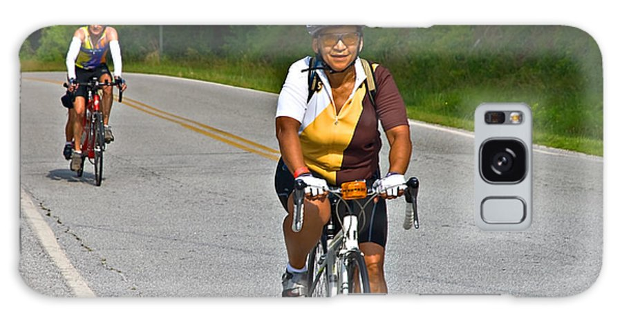 Across Galaxy S8 Case featuring the photograph Bicycle Ride Across Georgia by Susan Leggett