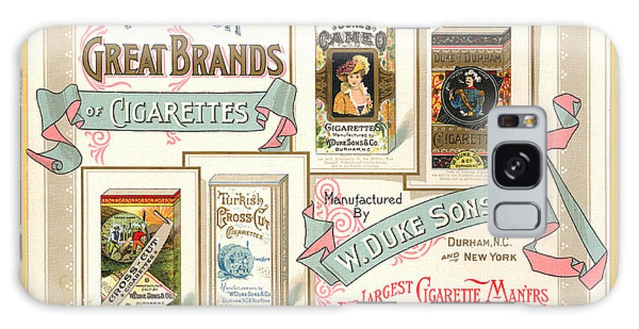 1889 Galaxy S8 Case featuring the photograph 1889 W. Duke Sons Co Cigarettes Trading Card by Anne Kitzman