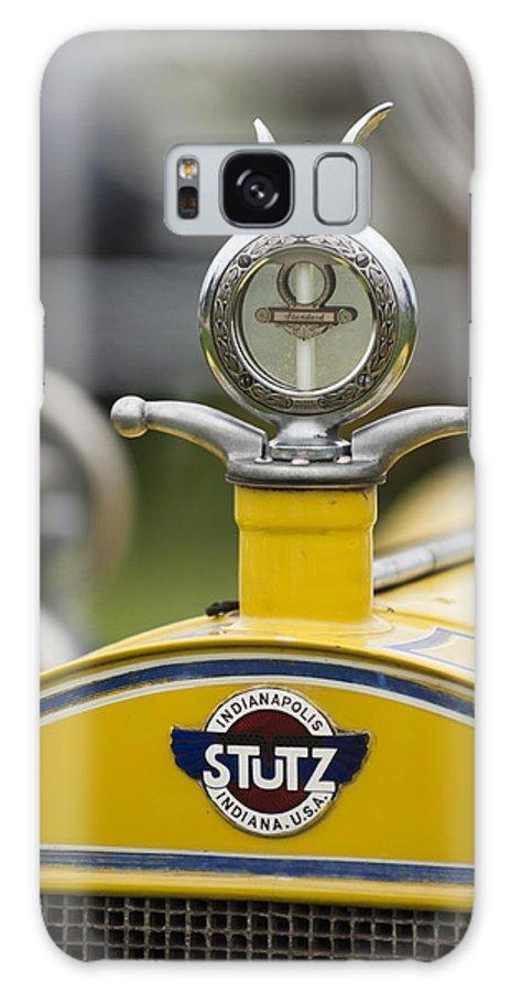 1914 Stutz Series E Bearcat Galaxy S8 Case featuring the photograph 1914 Stutz Series E Bearcat Hood Ornament by Jill Reger