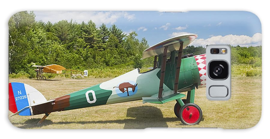 1917 Galaxy S8 Case featuring the photograph 1917 Nieuport 28c.1 Antique Fighter Biplane Canvas Photo Poster Print by Keith Webber Jr